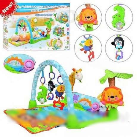 Коврик для младенца развивающий музыкальный  Умный малыш Bambi 7181