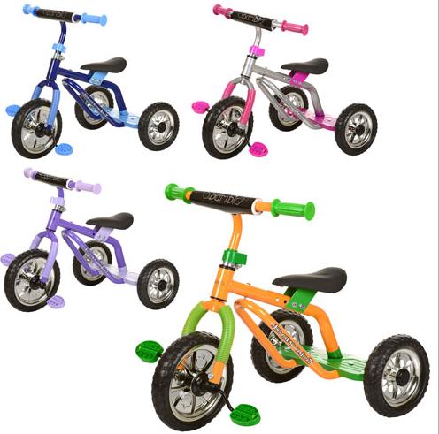 Велосипед M 0688-1, M 0688-3три колеса серо-розовый, желто-зеленый