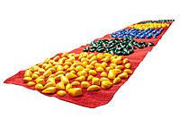 Коврик массажный Ортопед 200*40 см с фигурами, красный