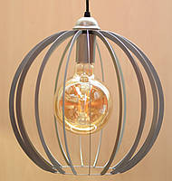 Подвесная Люстра Е27 LOFT Сфера потолочная (серебро, золото), фото 1