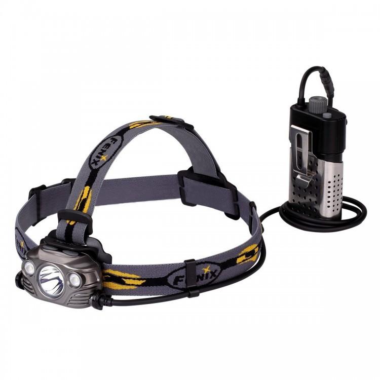 Налобный фонарь Fenix HP30R Cree XM-L2  XP-G2 R5 серый