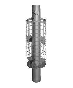 Дымоход-конвектор с шибером для камней Ф115 L1м