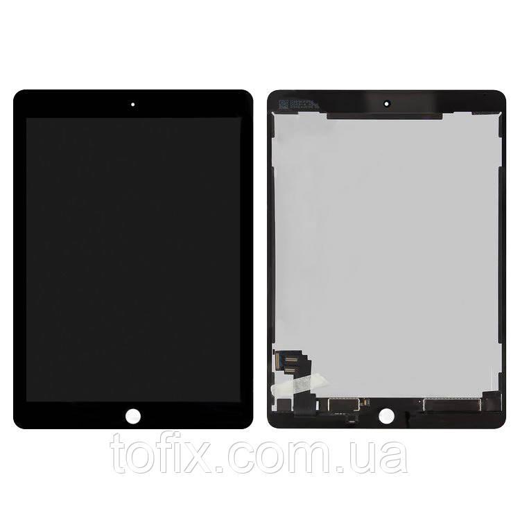 Дисплейный модуль (экран и сенсор) для iPad Air 2 (A1566, A1567), черный, черный, оригинал