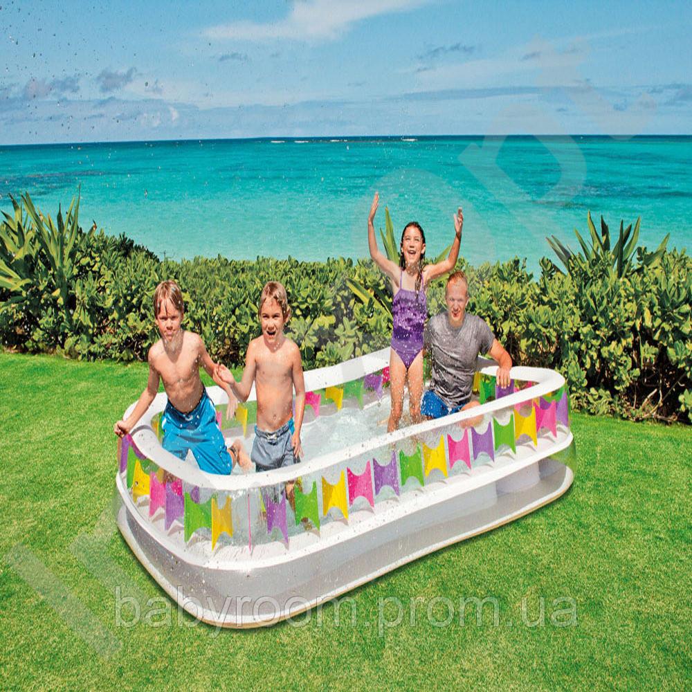 Детский надувной прямоугольный бассейн Intex 57477, 295х175х53 см