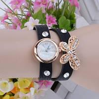 Часы-браслет с бабочкою - Черные
