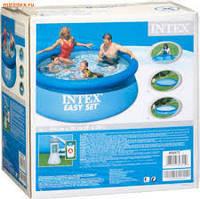Надувной бассейн Intex 28112 / наливной бассейн 244х76 см+насос