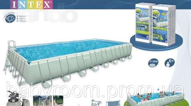 Каркасный бассейн, 975х488см, Intex Rectangular Ultra Frame Pool 28372(54990)