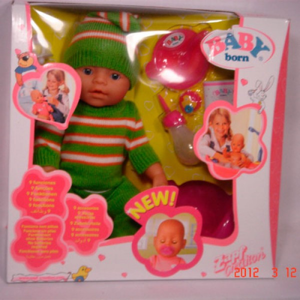 Кукла пупс 8001-H Беби Борн, вязанная одежда