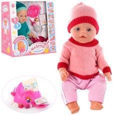 Кукла пупс 8001-F Беби Борн, вязанная одежда, 2 вида