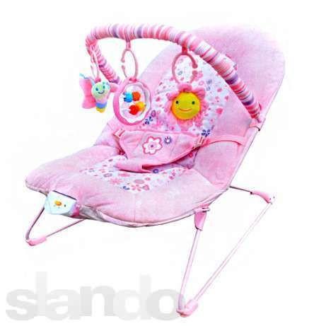 Детское кресло шезлонг 30602 розовый