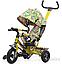 Детский трехколесный велосипед TILLY Trike Т-351-3 Air лабиринт зел, желт,оранж., фото 2