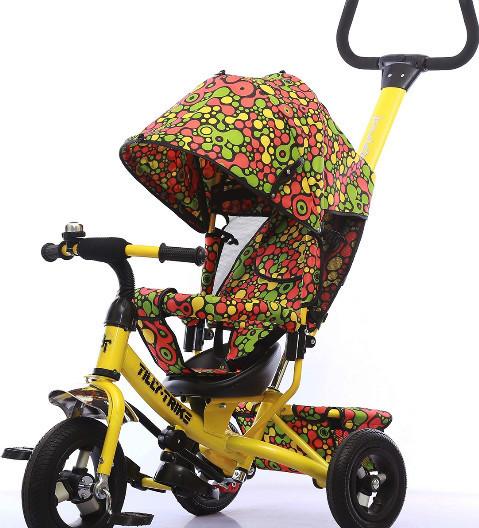 Детский трехколесный велосипед TILLY Trike T-351-4 Air клякса жел. сал.