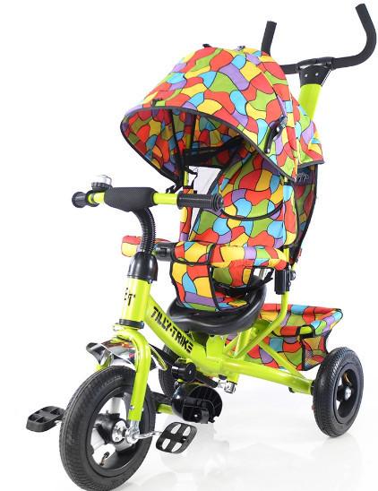 Детский трехколесный велосипед TILLY Trike T-351-1 салатовый