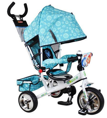 Детский трехколесный велосипед FX 0054 Фиксики, бирюзовый, колеса - пенарезина