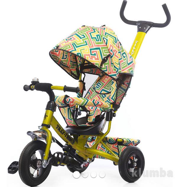 Детский трехколесный велосипед TILLY Trike Т-351-3 Air лабиринт зел, желт,оранж.