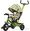 Детский трехколесный велосипед TILLY Trike Т-351-3 Air лабиринт зел, желт,оранж., фото 3