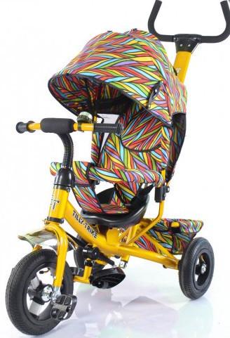 Детский трехколесный велосипед TILLY Trike T-351-2 Air лепестки ивы гол, кр,ор, желт