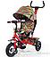 Детский трехколесный велосипед TILLY Trike T-351-2 Air лепестки ивы гол, кр,ор, желт, фото 4