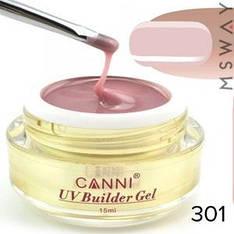 CANNI гель конструирующий в баночке №301 Soft Pink 15ml