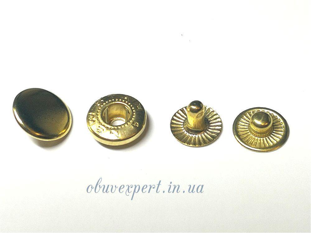 Кнопка Альфа 12,5 мм Золото (720 шт)
