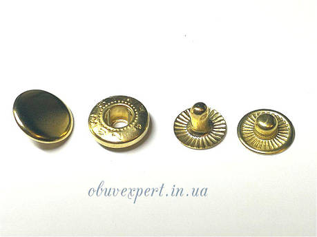 Кнопка Альфа 12,5 мм Золото (720 шт), фото 2