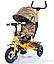 Детский трехколесный велосипед TILLY Trike T-351-2 Air лепестки ивы гол, кр,ор, желт, фото 6
