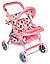 Прогулочная коляска для кукол 9337 малиновая, фото 4