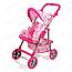 Прогулочная коляска для кукол 9337 малиновая, фото 5