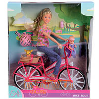 Кукла Steffi с Малышом на Велосипеде Simba 5739050