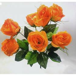 Роза букет искусственных цветов высота 40 см в упаковке 10  штук