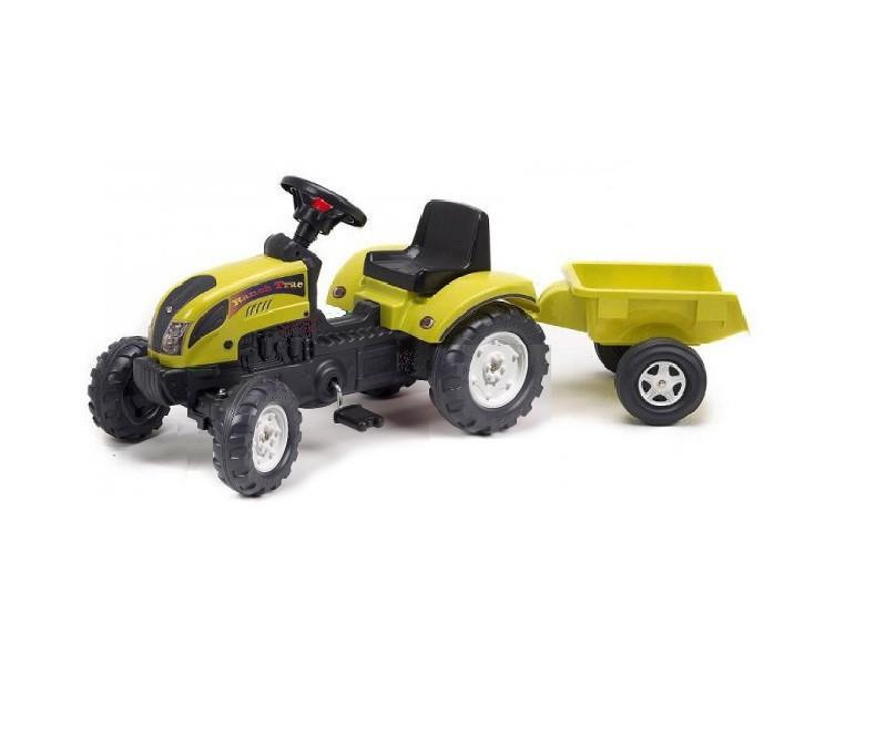 Трактор Педальный с Прицепом Ranch Trac Falk 2053AC темно-зеленый и красный