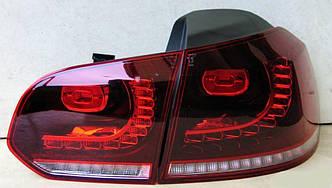 Фонари VW Golf 6 тюнинг led оптика стиль R20 (с лед поворотом)