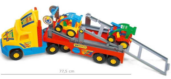 Машинка Автотранспортер с автомобилями Super Truck Wader 36630