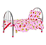 Кроватка игрушечная для кукол железная 9342, фото 2
