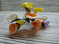 Набор цветочков искусственных декоративных №4