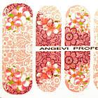 Наклейки для Ногтей Ноготки PhotonailArt Водные Angevi SL 88 Розовые Цветы, фото 3