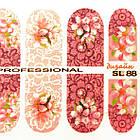 Наклейки для Ногтей Ноготки PhotonailArt Водные Angevi SL 88 Розовые Цветы, фото 4
