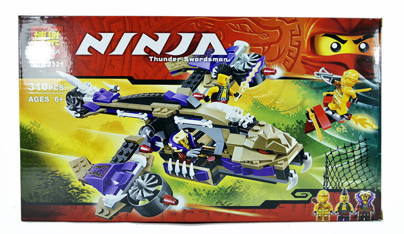 """Конструктор Bela Ninja """"Вертолетная атака"""" 10321, аналог LEGO Ninjago 70746"""