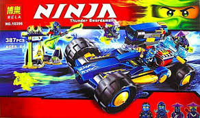 Конструктор Bela Ninja 10396 Вездеход Джея, аналог LEGO Ninjago Шагоход Джея 70731