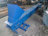 Конвейер скребковый, цепной, закритого типа, на колесах, с регулировкой высоты