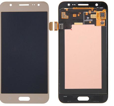 Дисплей (экран) для Samsung J200F/J200G/J200H/J200Y Galaxy J2 с сенсором (тачскрином) золотистый, фото 2
