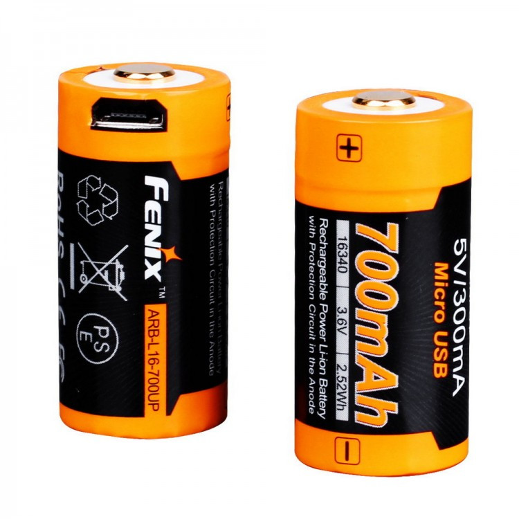 Аккумулятор 16340 Fenix ARB-L16-700UP