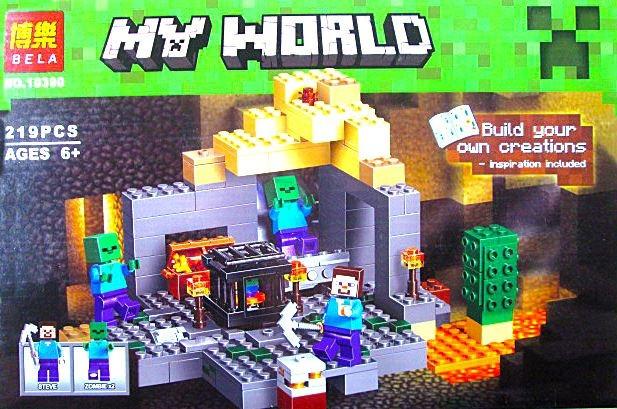 Конструктор Bela 10390 Темница (аналог Lego Майнкрафт, Minecraft 21119)- Подземелье