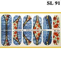 Наклейки для Ногтей Ноготки PhotonailArt Водные Angevi SL 91 Розы Джинса