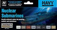 Набор красок для сборных моделей подводных лодок. VALLEJO 71611