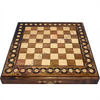 Шахматная доска 32 х 32 см. Инкрустация