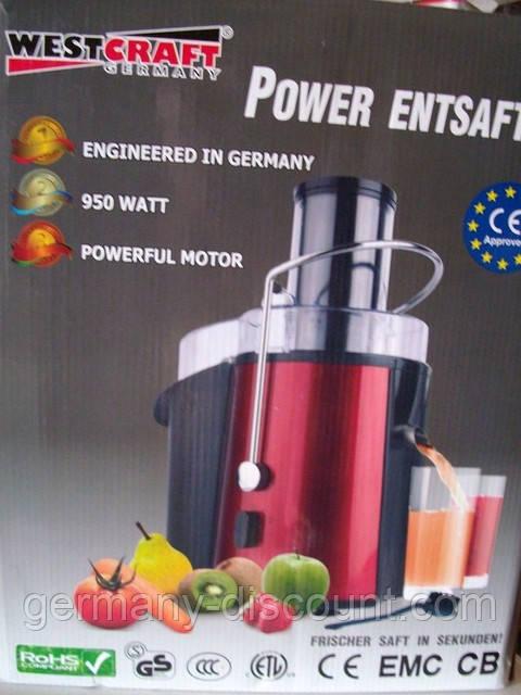 Мощная соковыжималка WESTCRAFT (Германия)