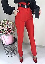 Женские модные брюки с высокой талией ft-2015 (разные цвета, 42-46), фото 3