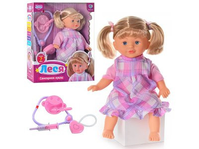 Кукла M 2143 RI Леся, мед набор, реагир на аксесс, звук(рус), 7фраз, на бат-ке