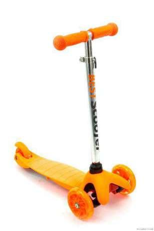 Самокат трехколесный 466-112, руль 56 - 66см, оранжевый